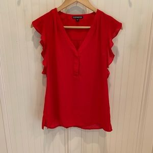 Sleeveless Red EXPRESS top XS